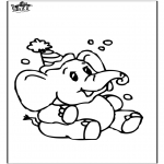 Ausmalbilder Tiere - Elefant 8