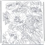 Allerhand Ausmalbilder - Elfe in Blumen