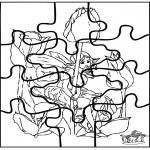 Malvorlagen Basteln - Elfe Puzzle