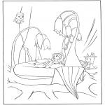 Allerhand Ausmalbilder - Elfe zwischen Blumen