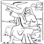 Bibel Ausmalbilder - Elias und der Rabe