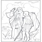 Bibel Ausmalbilder - Elisa und Elia