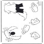 Ausmalbilder für Kinder - Elmo Kleider 2