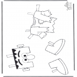 Malvorlagen Basteln - Elmo's Kleider 1