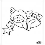 Allerhand Ausmalbilder - Engel 1