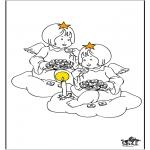Allerhand Ausmalbilder - Engel 3