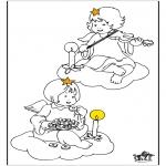 Allerhand Ausmalbilder - Engel 5