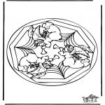 Malvorlagen Mandalas - Engel madala malvorlage
