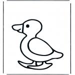 Ausmalbilder Tiere - Ente 1