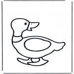 Ausmalbilder Tiere - Ente 2