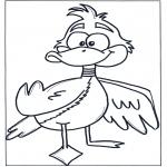 Ausmalbilder Tiere - Ente 3