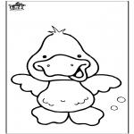 Ausmalbilder Tiere - Ente 6