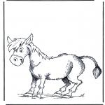 Ausmalbilder Tiere - Esel
