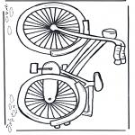 Allerhand Ausmalbilder - Fahrrad 1