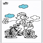 Allerhand Ausmalbilder - Fahrrad fahren 2