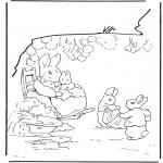 Allerhand Ausmalbilder - Familie Kaninchen