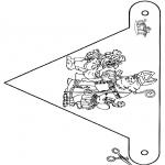 Basteln Stechkarten - Fänchen Sankt 2