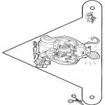 Basteln Stechkarten - Fänchen Sankt 3