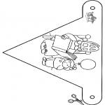 Basteln Stechkarten - Fänchen Sankt 4