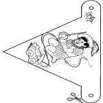 Basteln Stechkarten - Fänchen Sankt 5