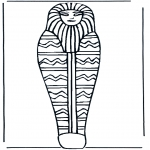 Allerhand Ausmalbilder - Faraos Sarg
