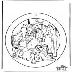 Bibel Ausmalbilder - Fensterhänger Daniel