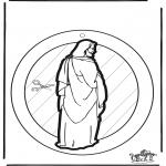 Bibel Ausmalbilder - Fensterhänger Jesus