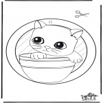 Malvorlagen Basteln - Fensterhänger kleine Katze