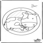 Malvorlagen Basteln - Fensterhänger - kuh 2