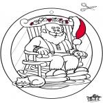 Ausmalbilder Weihnachten - Fensterhänger Weihnachten 1