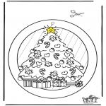 Ausmalbilder Weihnachten - Fensterhänger Weihnachten 2