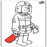 Allerhand Ausmalbilder - Feuerwehr