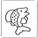 Ausmalbilder Tiere - Fisch 1