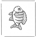 Ausmalbilder Tiere - Fisch 2