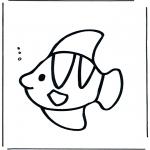 Ausmalbilder Tiere - Fisch unter Wasser
