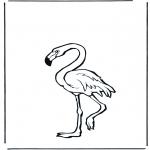 Ausmalbilder Tiere - Flamingo