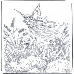 Allerhand Ausmalbilder - Fliegender Elfe