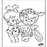 Ausmalbilder Comicfigure - Flinstones