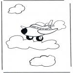 Allerhand Ausmalbilder - Flugzeug 1