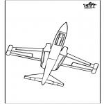 Allerhand Ausmalbilder - Flugzeug 2