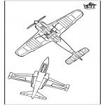 Allerhand Ausmalbilder - Flugzeug 3