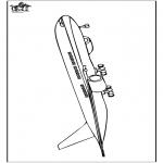 Allerhand Ausmalbilder - Flugzeug 5
