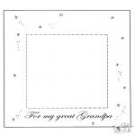 Ausmalbilder Themen - Fotobilderrahmen für lieben Opa