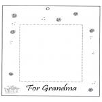 Malvorlagen Basteln - Fotobilderrahmen für Oma
