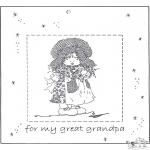 Malvorlagen Basteln - Fotobilderrahmen für   Opa