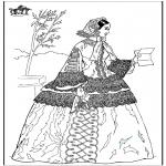 Allerhand Ausmalbilder - Frau mit Brief