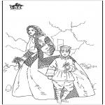 Allerhand Ausmalbilder - Frau und Junge