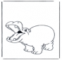 Frohes Flusspferd