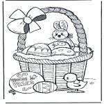 Ausmalbilder Themen - Fröhliche Ostern