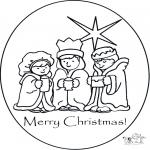 Ausmalbilder Weihnachten - Fröhliche Weihnachten 1